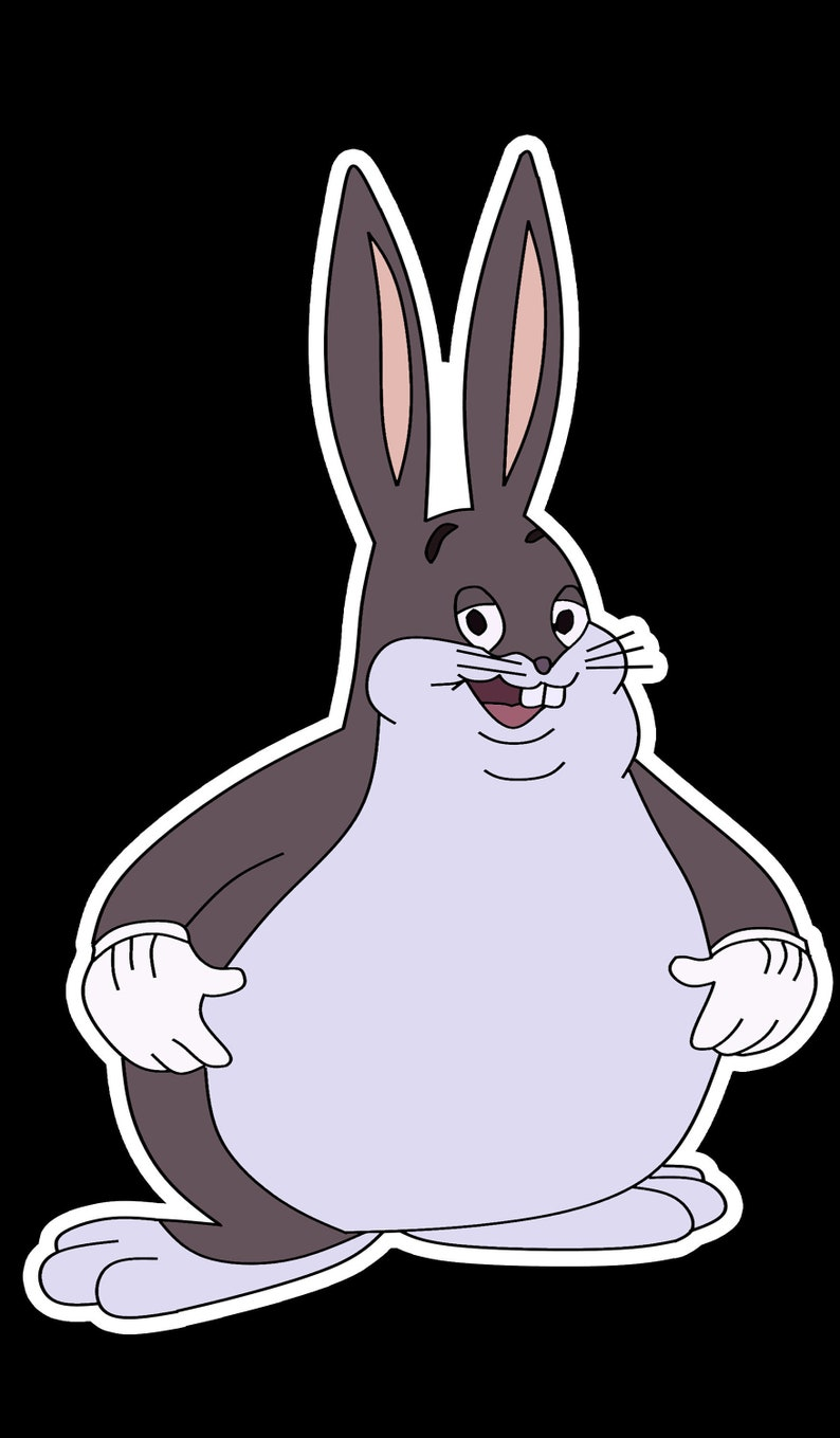 Big Chungus Vinyl Sticker Oder Magnet Laptop Sticker Etsy