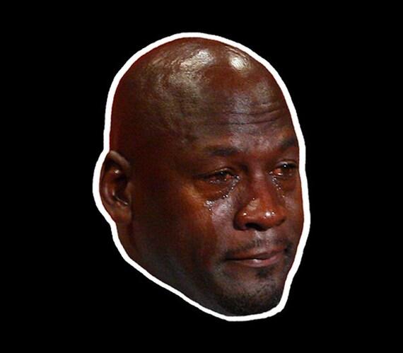 Crying Michael Jordan Vinyl Sticker or Magnet  362da950a645