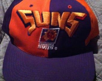 new photos d10e3 0ef93 Vintage Vtg 90S New Phoenix Suns Hat Snapback Nba Basketball Charles  Barkley Cap Purple Orange hip hop Lakers colorblock champion Supreme