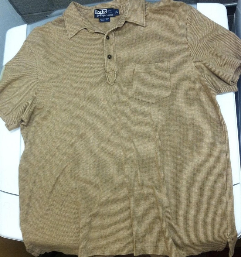 4e8e8930 Vintage Vtg 90S Polo Ralph Lauren Pima Cotton Brown Shirt Sz. | Etsy
