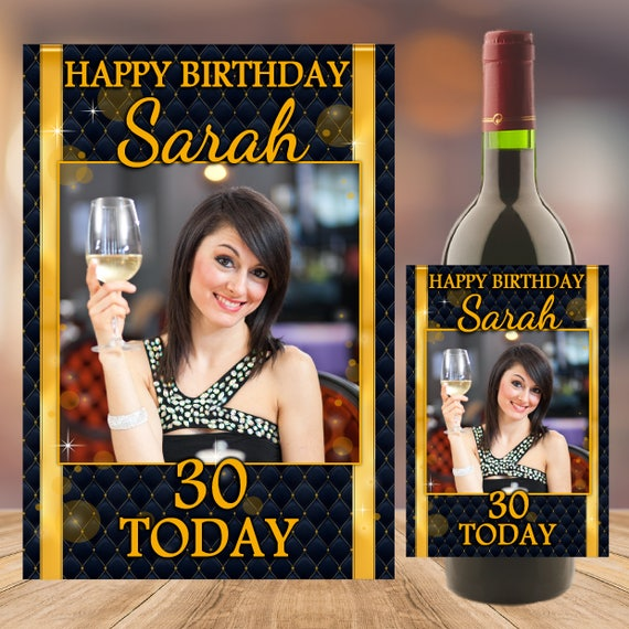 Personalised Happy 18th 21st 30th 40th Birthday Wine Champagne Bottle Label N88
