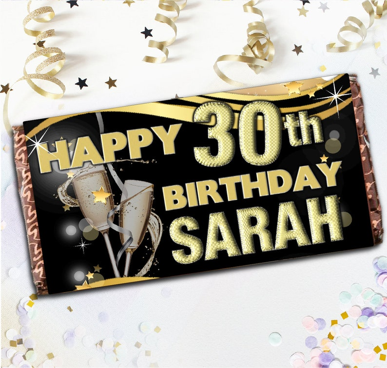 Personalised Happy Birthday Balloons 114g Galaxy Chocolate Bar Favour Gift N48
