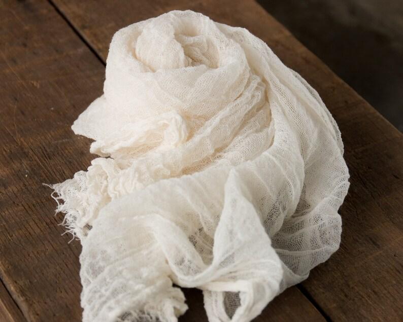 Newborn Photoshoot Prop Newborn Cheesecloth Wrap Photo Prop Cheese Cloth Wrap Natural Cotton Neutral Baby Wrap Newborn Wrap