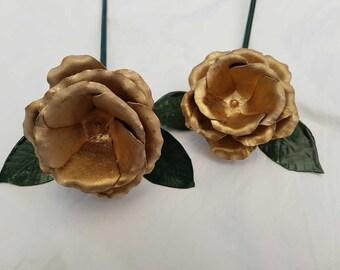Gold rose decoration