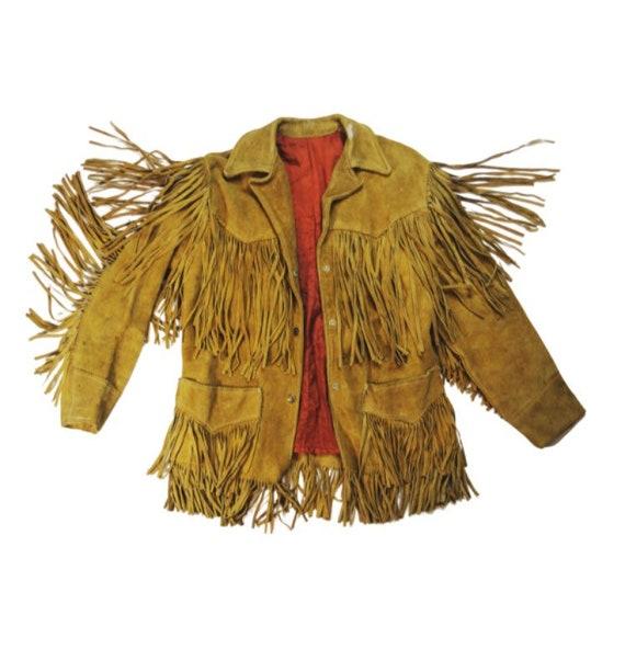 1970's Fringe Leather Jacket • Brown Suede • Trego