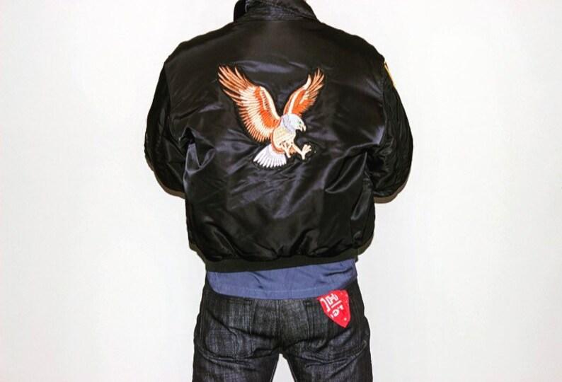 Vintage Flight Jacket \u2022 Desert Storm \u2022 1990 \u2022 Original Patches \u2022 Black