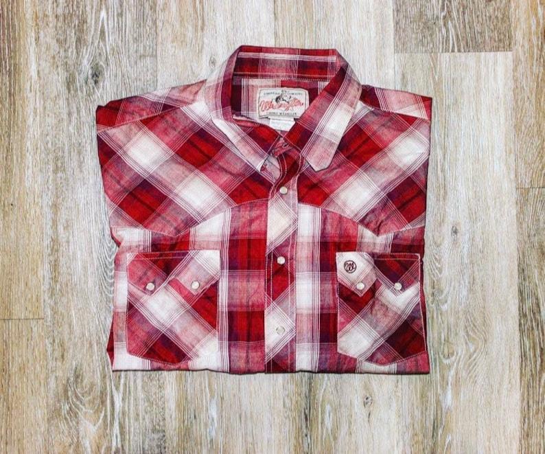 3411ffe8c171 Wrangler Western Wear Shirt American Cowboys XXL | Etsy