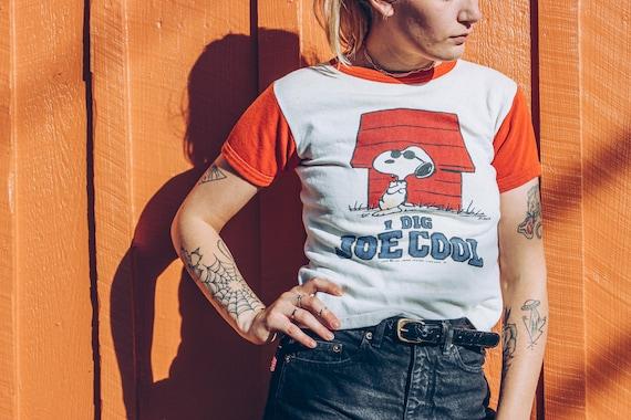 1960's Snoopy Sweatshirt • Short Sleeve • Size Sma