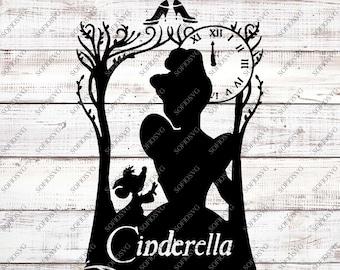Cinderella Svg Files - Princess Cinderella Svg Design - Disney Princess Clipart - Cinderella Vector Files - For Cricut - For Silhouette -Dxf