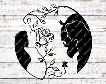 belle silhouettes etsy