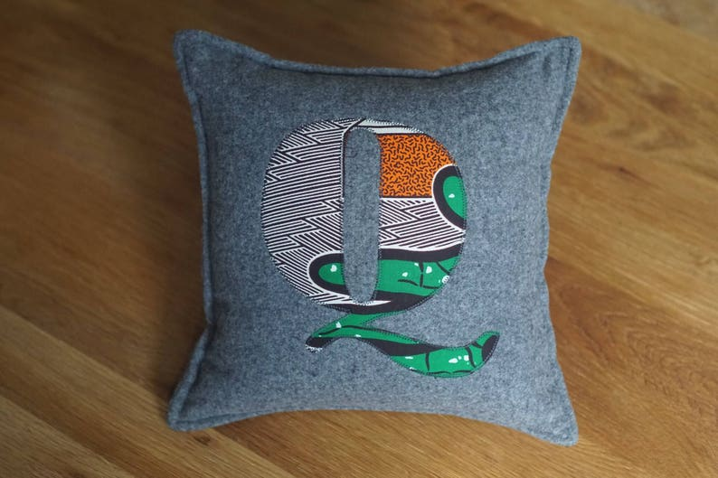 African Print Alphabet Cushion Letter Cushion Personalised image 0