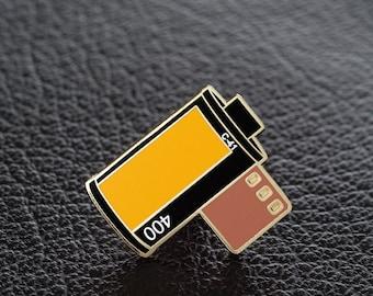 35mm Film Roll Enamel Pin - Kodak Portra 400 Colour