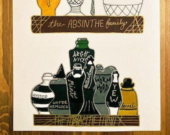 The Addams Family Absinthe Illustration Digital Print At Home