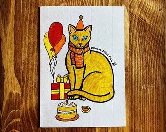 Custom Pawtrait Birthday Card