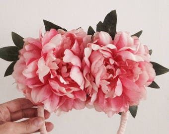 Wreaths of flowers peonies and leaves / wedding / accessory / Wedding / hair / Photobooth