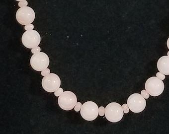 Peruvian Pink Opal Bead Necklace