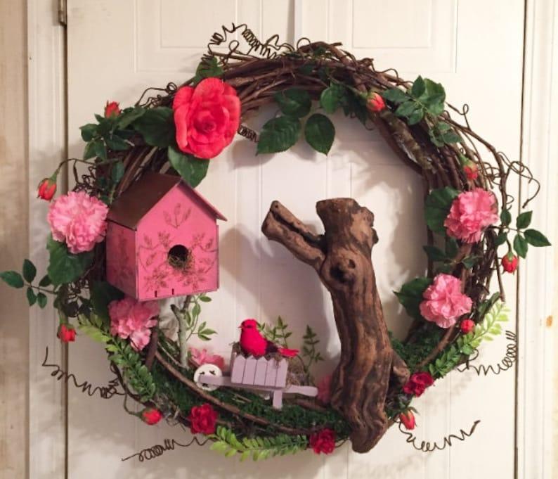 28\u201d Red Cardina Roses /& Berries s Candlelight Heart wreath