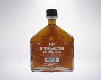 250ml Ontario Grade A Amber Maple Syrup (MAPLE LEAF BOTTLE)