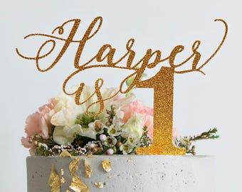 1st Birthday Cake Topper Etsy