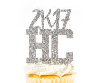 12 CT HC2k17 Cupcake Topper Homecoming Cupcake Topper Custom Cupcake Topper Homecoming 2017 Cupcake Topper High School Cupcake Topper