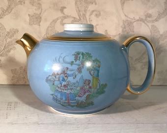 George GEORGEX Teapot East Palatine Ohio S Handsome Turquoise W