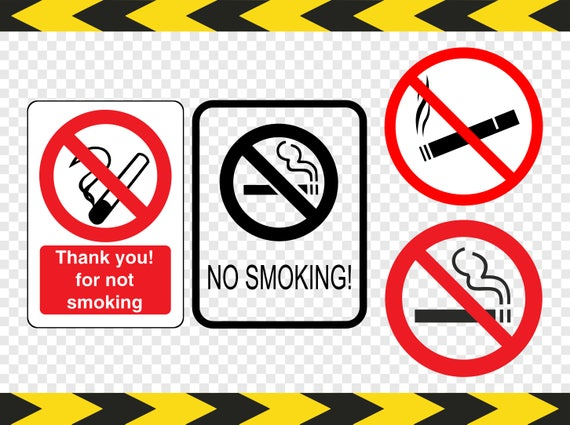 photograph regarding No Smoking Sign Printable named No smoking cigarettes signal Svg Clipart Printable Cigarette Cricut Silhouette Dxf Pdf Png documents