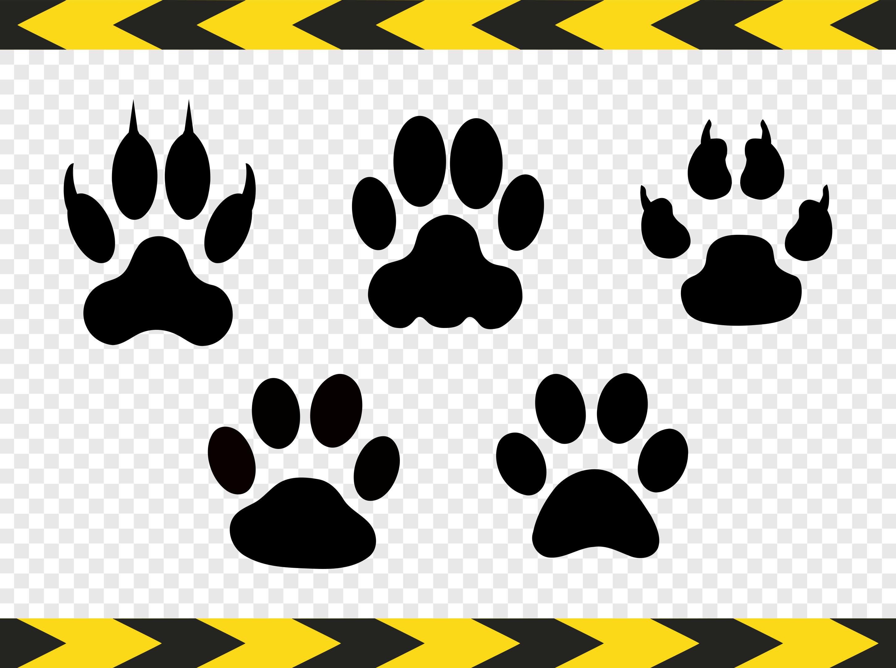 Impresión archivos SVG perro gato lobo etiqueta corte la pata para ...