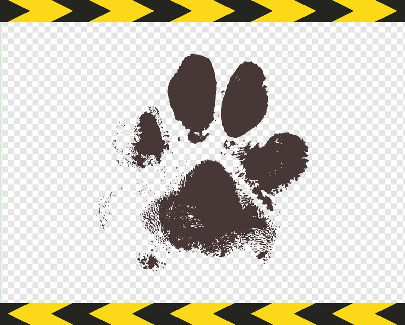 Real dog paw print SVG Mud Printable Decal DXF PDF Png files