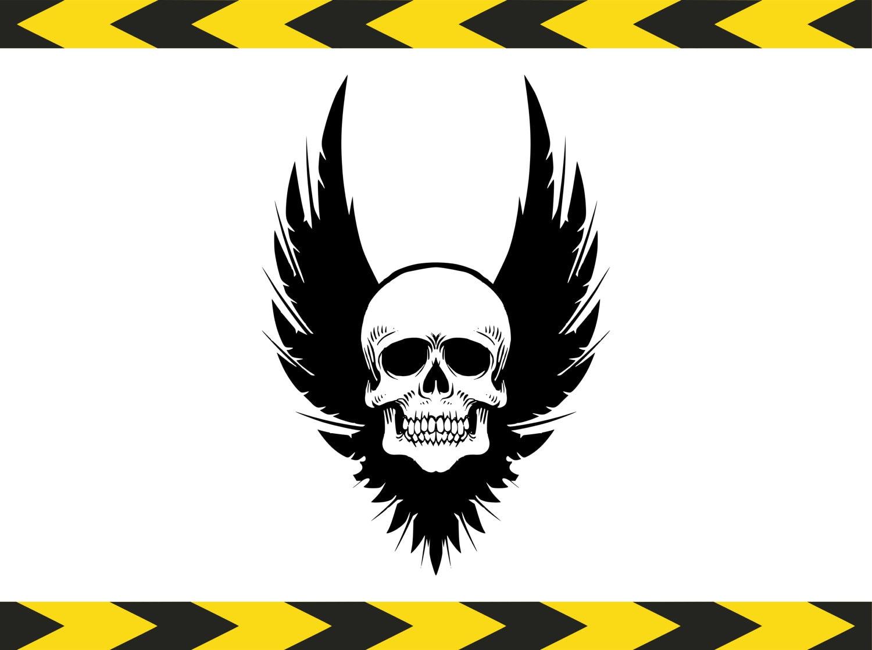 Archivos SVG de cráneo para Cricut silueta Vector Clip art   Etsy