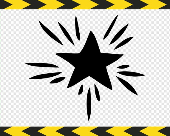 Shining star SVG Clipart Cut files for Silhouette Cricut ...
