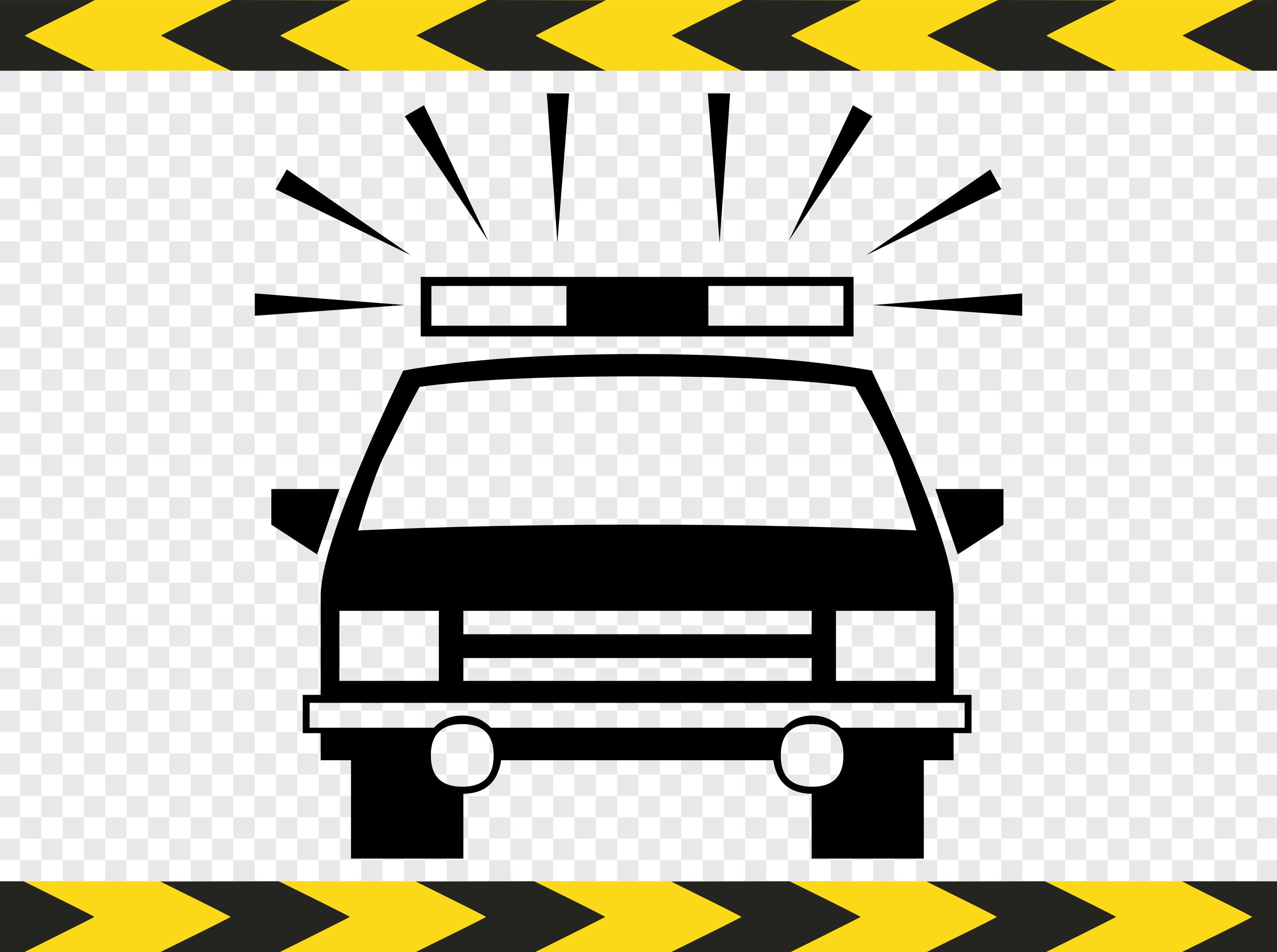 Polizeiauto SVG Clipart kommerziellen Cricut Designs Downloads