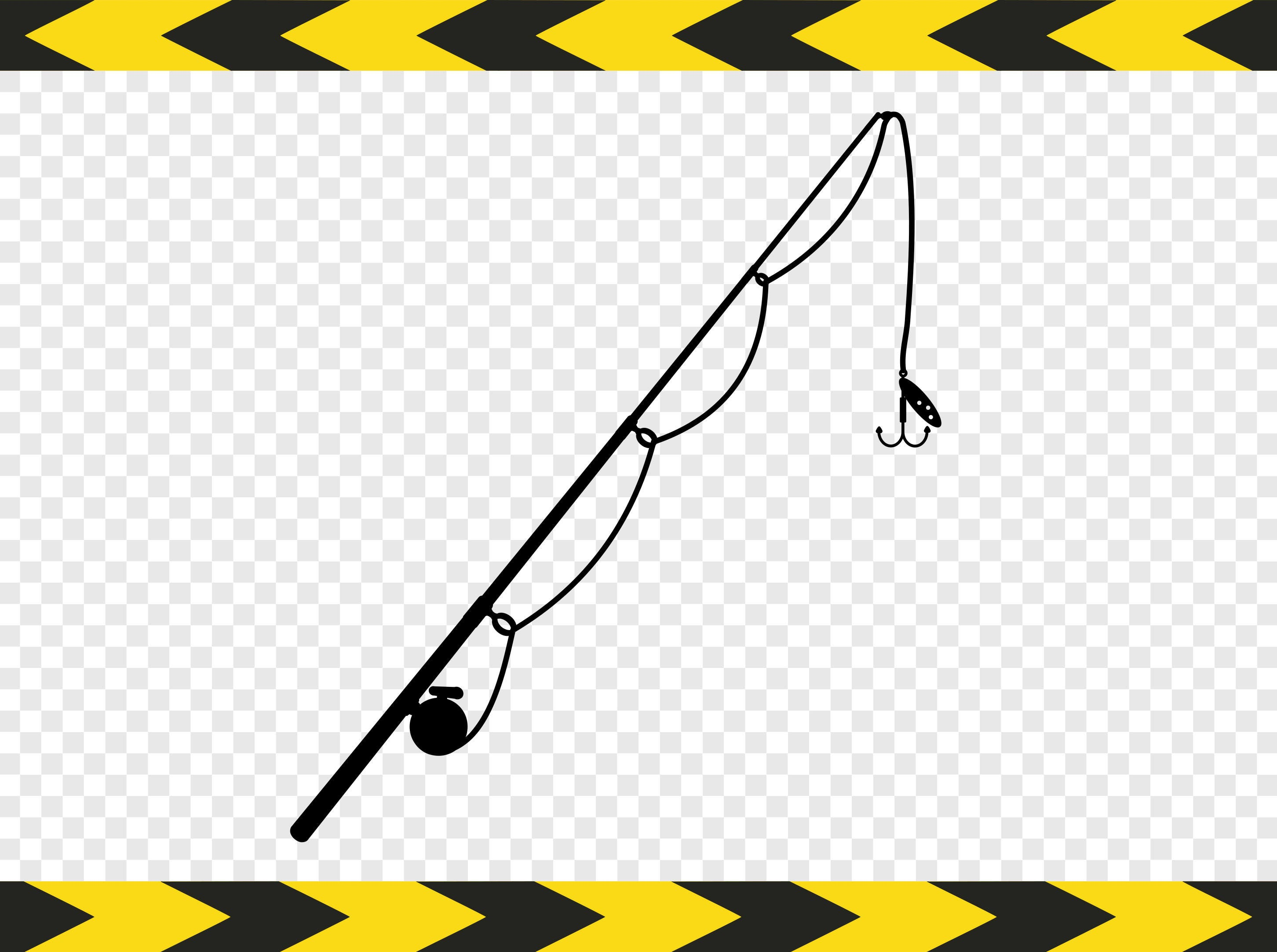 Fishing Rod Svg Lure Clipart Scan N Cut Files For Cricut