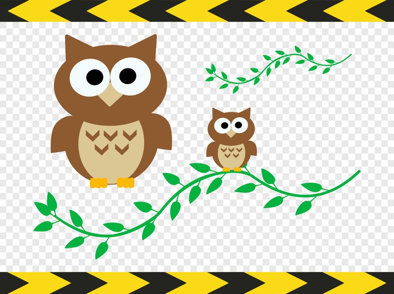 Owl SVG file Branch DIY Shirt decals stickers Cricut Silhouette designs Pdf  Png files