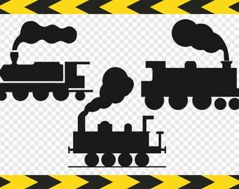 Train Svg Silhouette Clipart Clip art Cricut designs Dxf Pdf Png files