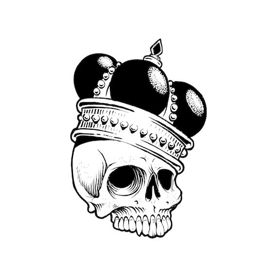 Corte de vinilo de cráneo SVG corona Rey de la muerte de   Etsy