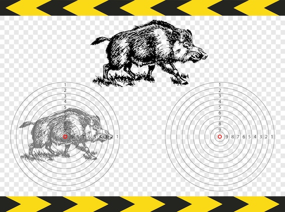 Target Wild Boar Svg Hunter Gifts Printable Dxf Pdf Png Files Etsy