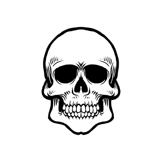 Archivos SVG corte de cráneo de silueta Cricut descargas   Etsy