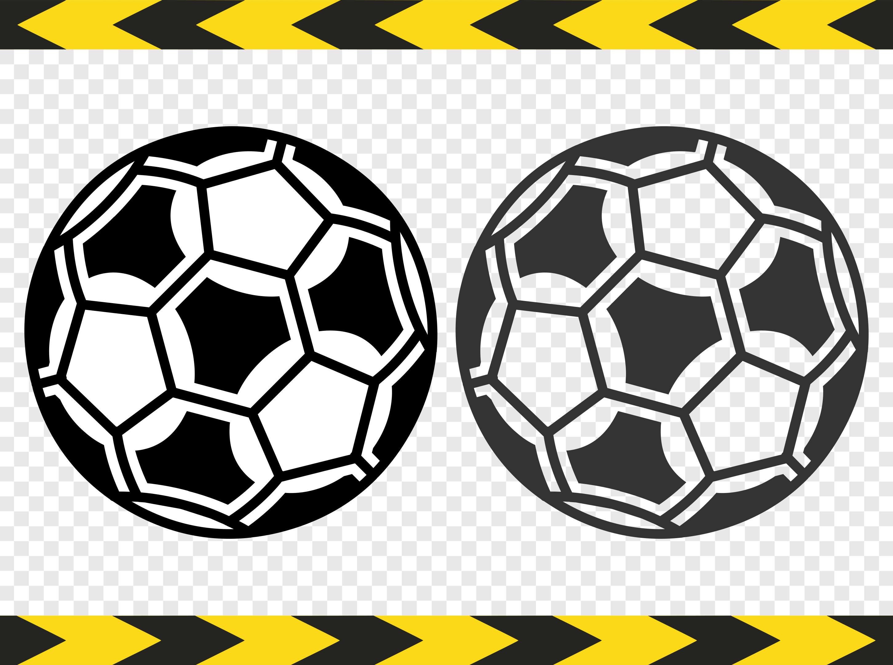 Balón de fútbol archivos SVG para etiqueta de pelota de fútbol   Etsy