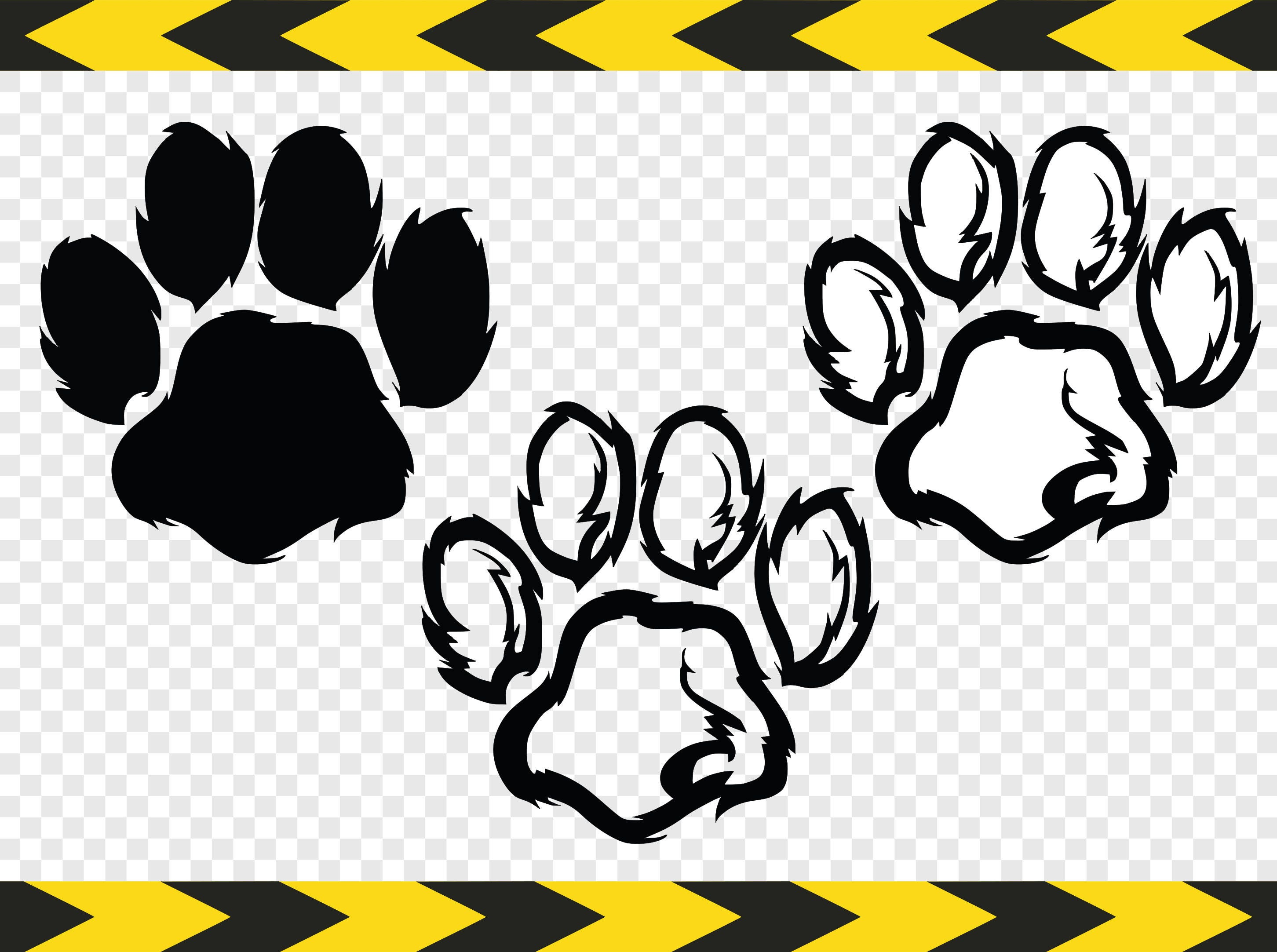 Download Paw print SVG Decal Clipart Cuttable designs Cut files for ...
