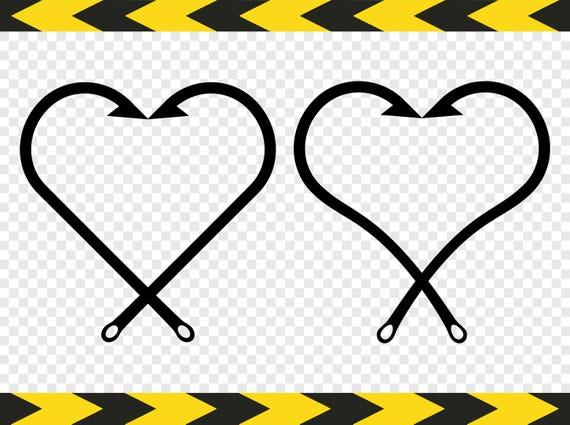 Download Fish Hook Svg Clipart Heart Fishing Fisherman Gift Cricut Etsy