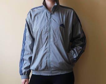 Vintage Adidas Hoodie Womens ADIDAS Sport Jacke grau Adidas