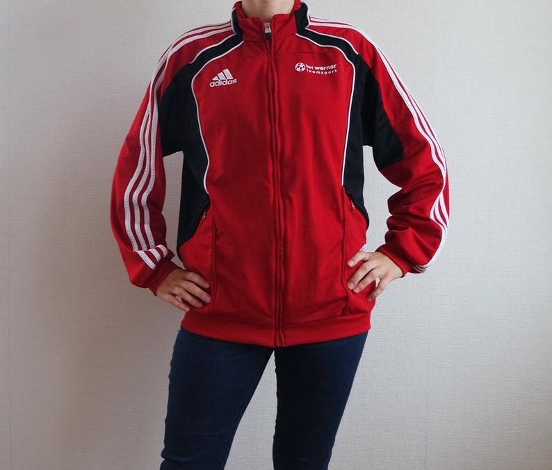 f76a68b56 ADIDAS Vintage Jacket Adidas Red Sport Jacket Black/Red Size | Etsy