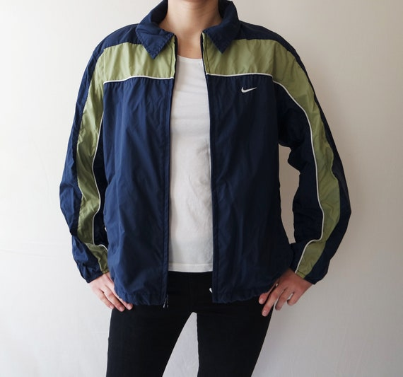 ce25b6cb85 Dark Blue NIKE Jacket Vintage Windbreaker Sport Tracking