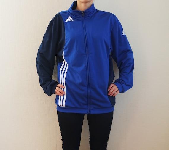 Windbreaker Sport Tracking Vintage 44 Blauen Eu Streifen Adidas Jacke Weiß 42 Groß 4Rj5cq3ALS