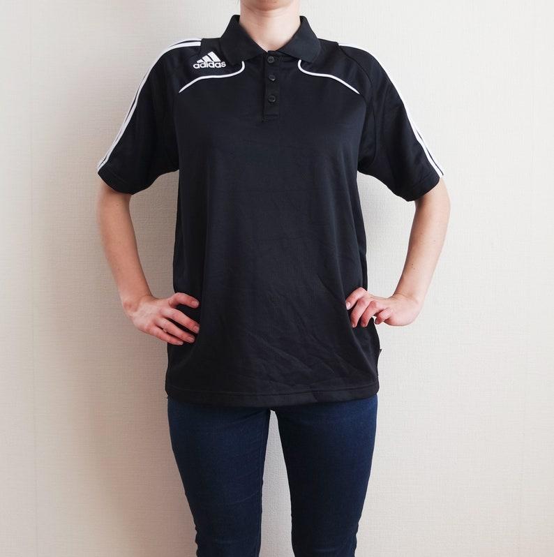 97c898f08154 ADIDAS Vintage Shirt Black Adidas Mens Sport Shirt Three