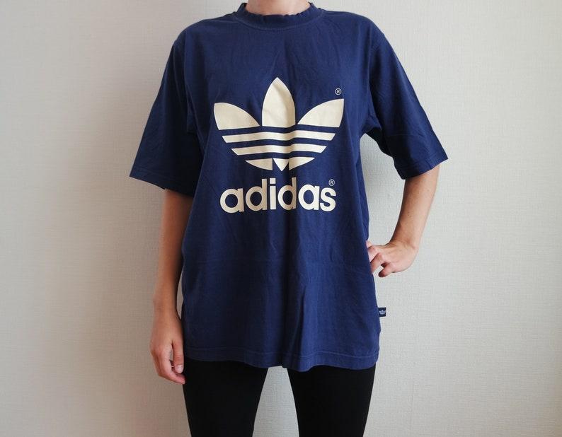 02ea1262b1e5 ADIDAS Vintage Shirt Blue Purple Adidas Sport Shirt Trefoil
