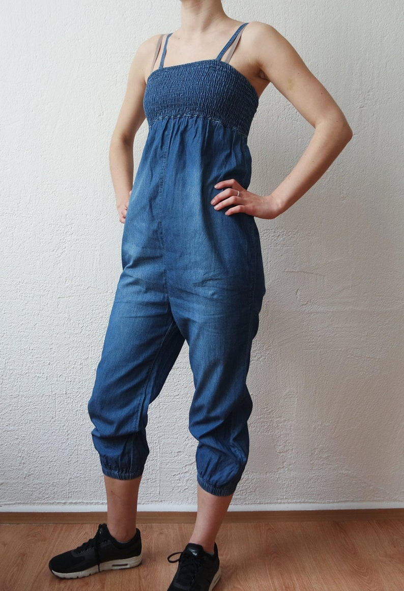 b2244ac74f2b Vintage Denim Jumpsuit Women Summer Sleeveless Jumpsuit