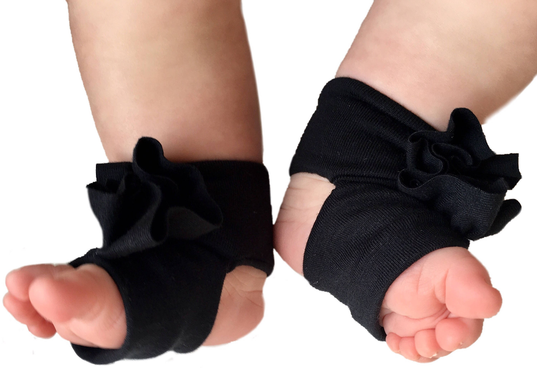 Black Baby Socks Baby Barefoot Sandals Black Baby Sandals
