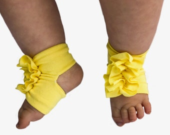 Yellow Baby Shoes - Yellow Baby Barefoot Sandals - Newborn sandals - Baby Sandals - Baby Barefoot Sandals -  Newborn Sandal - Newborn Shoes