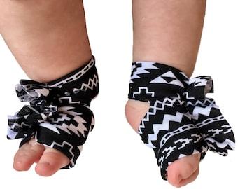 Aztec Shoes - Aztec Socks - Baby Barefoot Sandals - Newborn Sandal - Aztec Booties - Newborn Shoes - Baby Sandals - Baby Socks - Baby Gifts